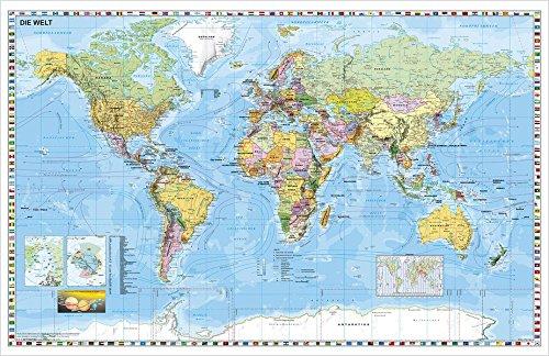 Preisvergleich Produktbild Weltkarte (deutsch) Großformat