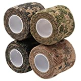 Merssavo 4Pcs sortiert Farbe Camo Wrap Camouflage Stealth-Band Outdoor Jagd Camping Werkzeug