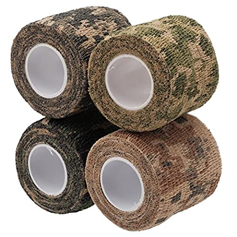 4Pcs Assorted Colour Camo Wrap Camouflage Stealth Tape Outdoor Hunting Camping Tool
