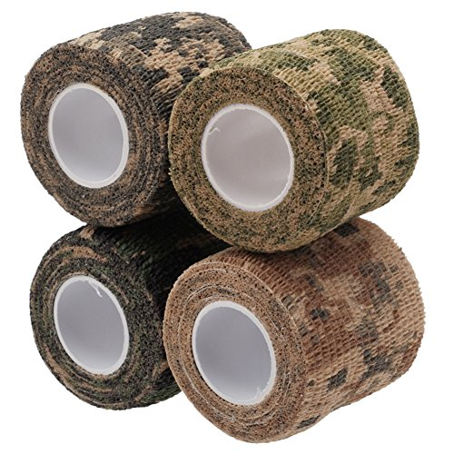 Merssavo 4Pcs sortiert Farbe Camo Wrap Camouflage Stealth-Band Outdoor Jagd Camping Werkzeug -