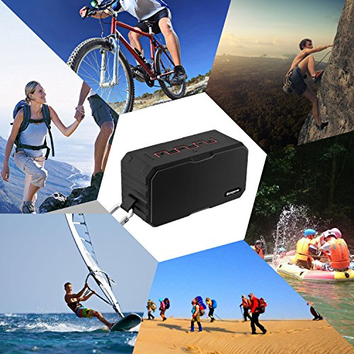 Bluetooth Speakers, DEEPOW 10W IP67 Waterproof Wireless Speaker with 3000mAh Power Bank, Mini Outdoor Stereo Speaker with Enhanced Bass, Built-In Mic, Support TF Card, AUX Line-In and Handsfree Call