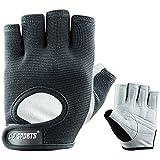 C.P. Sports Trainings Power Handschuh Trainingshandschuhe, Schwarz/Hellgrau, XS