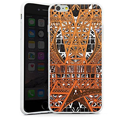Apple iPhone X Silikon Hülle Case Schutzhülle Paris Eiffelturm Muster Silikon Case weiß