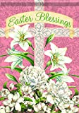 Carson Home Accents Trends Glitter Garten Flagge, Ostern Blessings Kreuz