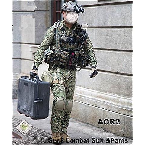 los hombres de caza paintball airsoft militar uniforme de combate gen2 táctica uniforme AOR2 (M)