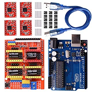 Longruner CNC Shield Expansion Board V3.0 +UNOR3 Board + A4988 Stepper Motor Driver With Heatsink for Arduino Kits LK75