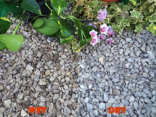 Gravier, gravillons, ardoise, pour repousser les mauvaises herbes, pour jardin, patio, allée, décorer une plante, couleur peakstone gris tourterelle (10 à 20 mm), 20KG