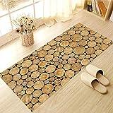 Elobaby Wohnzimmer Küche Rutschfeste Verschleißfesten Boden aufkleber Entfernt Nicht-Stick Kleber Kreative Dekorative Teppich Tapete , E , 60*120cm
