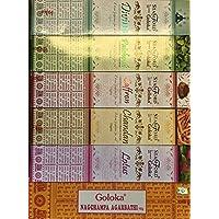 Goloka Nag Champa Vielzahl Karton Mix 12x 15g Boxen von Räucherstäbchen, 2Pakete von jeder Nag Champa, Chandan... preisvergleich bei billige-tabletten.eu