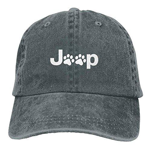 UUOnly Jeep Dog Paw Plain einstellbare Cowboy Cap Denim Hut für Frauen und Männer