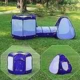 Homfu Kinder Spiel-Zelt für Jungen Mädchen draußen Camping Reisen Kinder Spiel-Zelt mit Pop-up Design (Large 32inch X 41inch) (Lila)