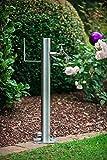 KTC Tec Wassersäule SRG 950 mm Edelstahl Schlauchhalterung Gartenschlauch Zapfsäulen Schlauchhalter