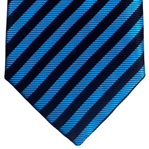 Retreez tissé à rayures en microfibre de de 8–10ans–Garçon–différents coloris Blue and Black Stripe