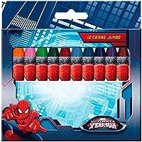 Astro, AST1773, pack 12 Ceras de colores jumbo Spiderman