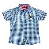 BONDI Trachtenhemd ´Gipfelstürmer´ Blau kariert Gr. 86 - Fesches Karohemd vom Markenhersteller BONDI Kidswear für Jungen
