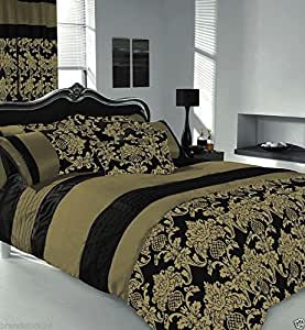 apachi bettbezug f r super king size betten set schwarz gold k che haushalt. Black Bedroom Furniture Sets. Home Design Ideas