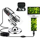 USB Microscope Camera 40X to 1000X, Cainda Digital Microscope with Metal Stand & Carrying Case Compatible with Android…
