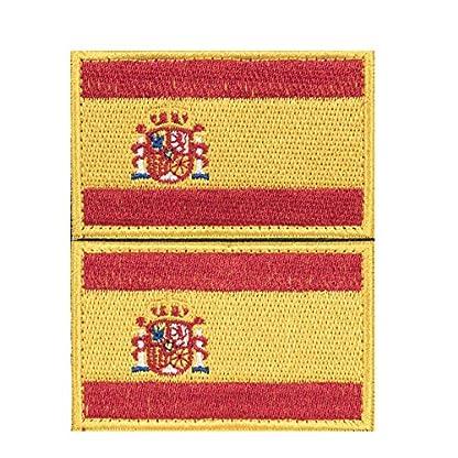 61u9EyKCeLL. SS416  - Envio 24h 2 Parches Velcro x España Bandera Táctico bandera con velcro podría ser pegado a la ropa, chaleco, gorra, mochila Directamente 2052