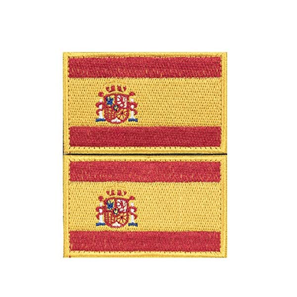 Parche España Militar-TLD 2 x Parches Velcro España Español Bandera Táctico bandera con velcro podría ser pegado a la ropa, chaleco, gorra, mochila Directamente 2052 Chollo Promocion Precio Rebaja Casi Gratis Con Gran Descuento Ofertas en amazon