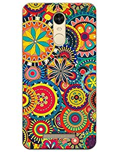 Xiaomi Redmi Note 3 Cases & Covers - Colorful Floral Pattern Case by myPhoneMate - Designer Printed Hard Matte Case - Protects from Scratch and Bumps & Drops.