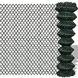 Festnight Recinzione recinto in rete metallica galvanizzata 1,5 x 15 m verde