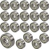 [ JBS basics ] 20 Stück [ 696 ZZ ] Kugellager [ 6 x 15 x 5 mm ] Miniatur Lager Rillen Radiallager Precicion Ball Bearing