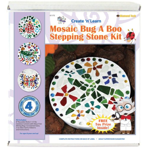 Diamond Tech Crafts Mosaic Stepping Stone Kit-Bug A Boo, Other, Multicoloured