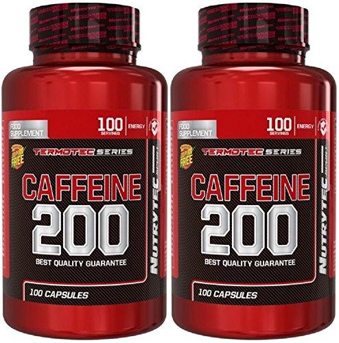Integratore Caffeine 200 Termotec a base di Caffeina pura - Tonico Stimolante Termogenico Eccitante lipolitico