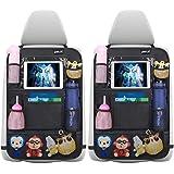 Autorugleuningbeschermer Ealif 2 stuks grote organizer voor kinderen, 600D Oxford-stof, waterdicht achterbankbeschermer met i