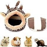 Rocita 1 cama de invierno cálida para hámster o cobaya, ligera, ideal como regalo de Navidad (jirafa, S)