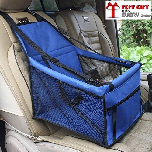 Ducomi DogSit - Seggiolino Auto per Cane - Coprisedile Singolo per Cani di Piccola e Media Taglia - Telo Impermeabile per Proteggere i Sedili della Vettura - Dotato di Cinghie di Sicurezza (Blue)