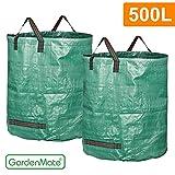 GardenMate® 2x Gartensack 500l PROFESSIONAL aus robustem Polypropylen-Gewebe