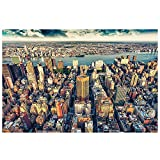 GREAT ART Foto Mural New-York Skyline Decoración Tapiz de Pared Manhattan NYC USA Póster Big Apple America 336x238cm