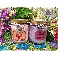 Ti voglio bene Mamma 2 vasetti con candele di cera di soia e oli essenziali Festa della Mamma Idea Regalo per la Mamma la migliore Mamma