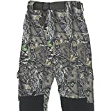 FLADEN Authentic Wear Fully Waterproof and Windproof Outdoor Utility Trousers - Woodland Forest Camouflage and Khaki Design - Ideal for Fishing, Hunting & Similar Pursuits