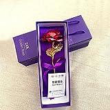 """Ranipobo Cadeau Fleurs Fête des Mères Décoration Plaqué or 24 K Doré Fleurs """"Love Forever pour Mom 's Day, Anniversaire, Mariage, Cérémonie Avec Boîte Cadeau de Luxe..."""