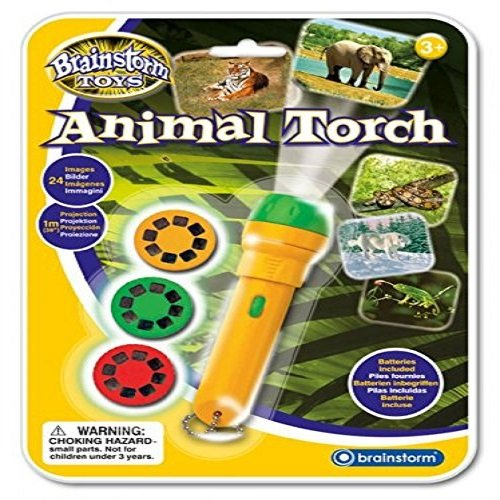 Brainstorm Toys - Linterna proyector (24 fotos de animales)