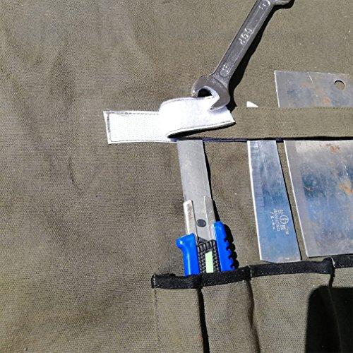 61u9n2pFnvL. SS500  - HANSHI Waterproof Waxedx Canvas Knife Roll Bag with 6 Slots Multi-Knife Tool Bags Storage for Culina