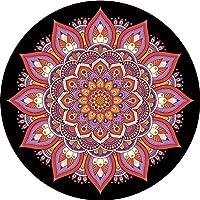 Preisvergleich für YOGA-HECSS Runde Yoga-Matte Weibliche Meditation Pad Professionelle Tanz Übung Fitness Yoga Mat Anbetung Buddha Meditation Kaffee Tischset