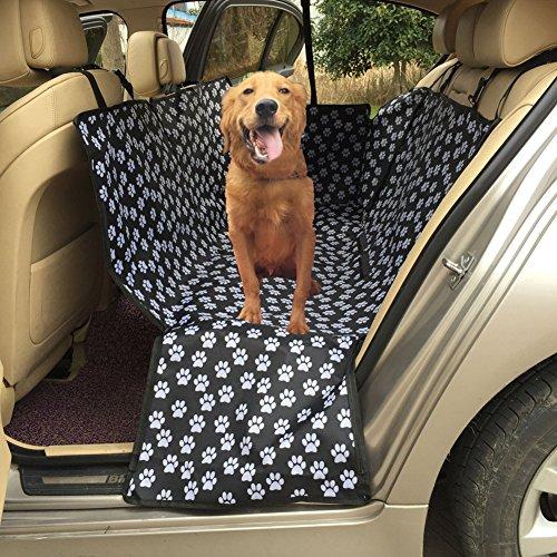 Cubierta del asiento trasero del coche del perro, HomeYoo Cubierta de Asiento Impermeable Para Coche Carro Manta Funda estilo Hamaca Protector Antideslizante Protección de Perro, Gato, Animal y Mascota, Viajes (130 x 150 x 55cm)