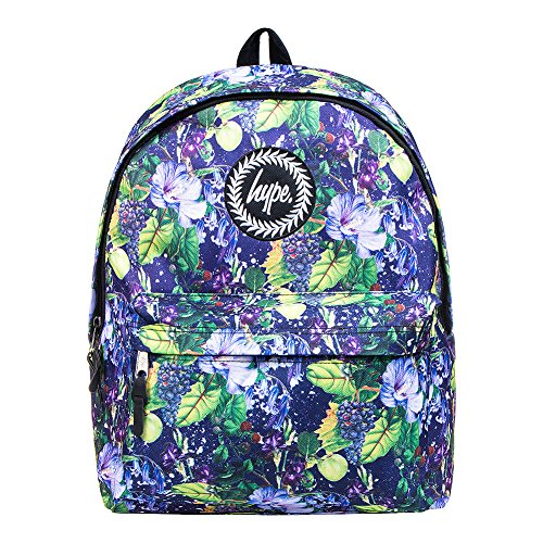 Hype Homme Jelly taille Logo Sac à dos, Noir Blue Bell