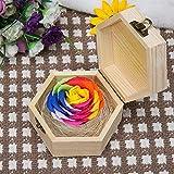 SED Künstliche Blumen - Teacher's Day Simulation Bunte Rose Soap Flower Geschenkbox Soap Flower Kreatives Geschenk, Gelb,Wie Gezeigt