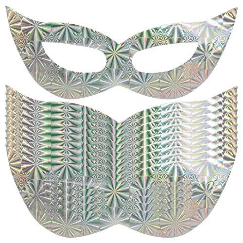 l-Kostüm-Maskerade-Partei 10pcs Silber-Ton (Halloween-papier-maske-muster)