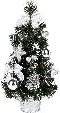 Leezo 40CM Luxus Tabletop Weihnachtsbaum hängen Dekorationen Kiefer (Batterie Nicht im Lieferumfang Enthalten)