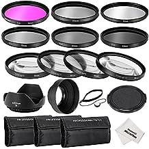 Neewer® Kit d'Accessoires 52MM Filtre pour Objectif Complet pour Caméra DSLR Nikon D3300 D3200 D3100 D3000 D5300 D5200 D5100 D5000 D7000 D7100 Kit comprend: 1*Kit de Filtres (UV, CPL, FLD) + 1*Kit de Filtres Macro Close-up (+ 1, 2, 4, 10) + 1*Kit de Filtres à Densité Neutre (ND2, ND4, ND8) + 1*3-en-1 Parasoleil Pliable+ 1*Parasoleil Tulipe + 1* Alignement sur Bouchon avant Objectif + 1*Bouchon Gardien Laisse + 3*Etuis de Filtres + 1*Chiffon Microfibre de Nettoyage