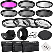 Neewer® 52mm filtro Kit de accesorios para Nikon D3300D3200D3100D3000DSLR Cámara: UV, CPL, FLD Filtros + filtros de primer plano macro (+ 1, + 2, + 4, + 10) + filtros de densidad neutra (ND2, ND4, ND8) + parasol de objetivo + Tapa de objetivo