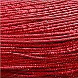 10 Mètres de fil cordon coton ciré pour creation bracelet shamballa,tibétain... - Rouge / 1.5
