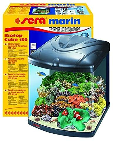 sera 31100 marin Biotop Cube 130 ein 130 l Meerwasser-Komplettaquarium mit PL-T5 Beleuchtung und