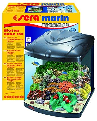 sera 31100 marin Biotop Cube 130 ein 130 l Meerwasser-Komplettaquarium mit PL-T5 Beleuchtung und...