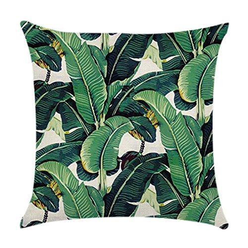 Kissenbezug im Design von grünen tropischen Pflanzen, Kissenbezug zum Ausruhen Muster 5 -
